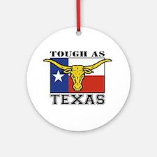 Tough as Texas Longhorn Ornament (Round)