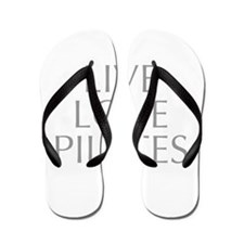 LIVE-LOVE-pilates-OPT-GRAY Flip Flops