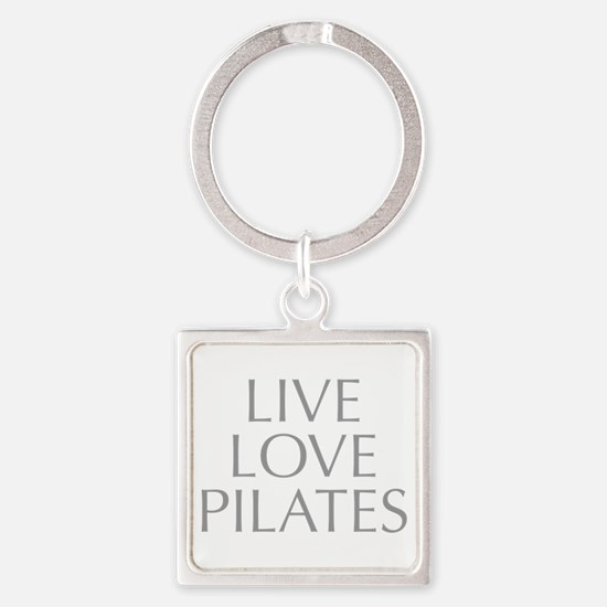 LIVE-LOVE-pilates-OPT-GRAY Keychains