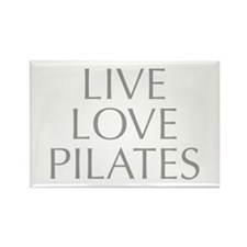LIVE-LOVE-pilates-OPT-GRAY Rectangle Magnet (10 pa