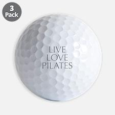 LIVE-LOVE-pilates-OPT-GRAY Golf Ball