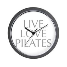 LIVE-LOVE-pilates-OPT-GRAY Wall Clock