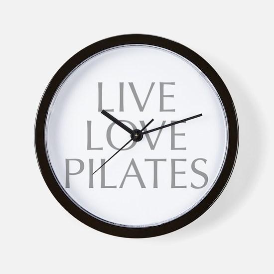 LIVE-LOVE-pilates-OPT-GRAY Wall Clock
