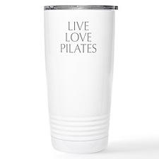 LIVE-LOVE-pilates-OPT-GRAY Travel Mug