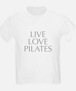 LIVE-LOVE-pilates-OPT-GRAY T-Shirt