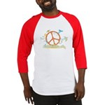 Colorful Peace Sign Baseball Jersey