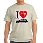 I Love My Auto/Car Ash Grey T-Shirt