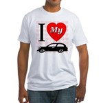 I Love My Auto/Car Fitted T-Shirt