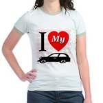 I Love My Auto/Car Jr. Ringer T-Shirt