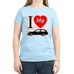 I Love My Auto/Car Women's Pink T-Shirt