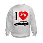 I Love My Auto/Car Kids Sweatshirt