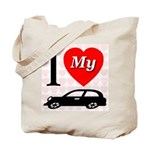 I Love My Auto/Car Tote Bag