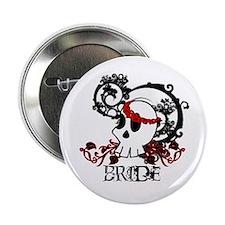 """Skull Bride 2.25"""" Button"""