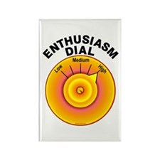 Enthusiasm Dial on High Rectangle Magnet