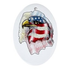 American Eagle Oval Ornament