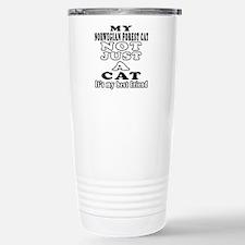Norwegian Forest Cat Designs Travel Mug