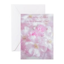 Pink Tree Blossom Greeting Cards (Pk of 10)
