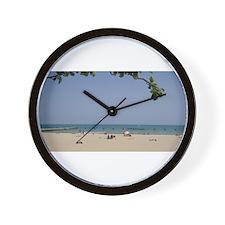Lazy Days on the Beach! Wall Clock