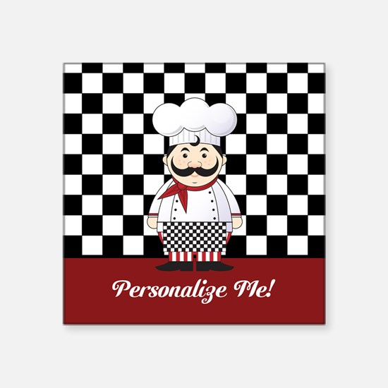 Personalized French Chef Sticker