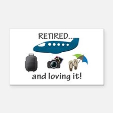 Retired And Loving It Vacation Rectangle Car Magne