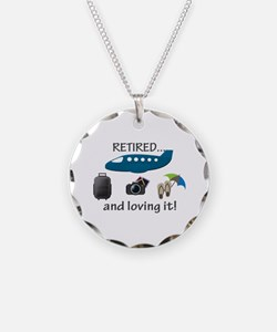 Retired And Loving It Vacation Necklace