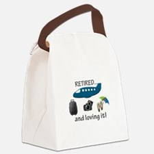 Retired And Loving It Vacation Canvas Lunch Bag