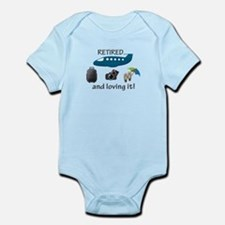 Retired And Loving It Vacation Infant Bodysuit