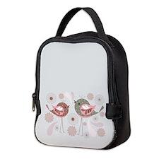 Cute Birds Neoprene Lunch Bag