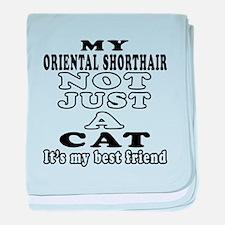 Oriental Shorthair Cat Designs baby blanket