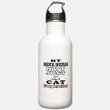 Oriental Shorthair Cat Designs Water Bottle