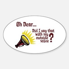 My Outside Voice Oval Decal