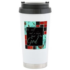 be still color block teal and red dark Travel Mug