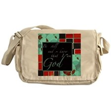 be still color block teal and red dark Messenger B