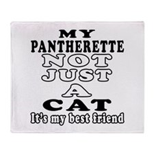 Pantherette Cat Designs Throw Blanket