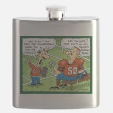 Fantasy Football Cartoon Flask