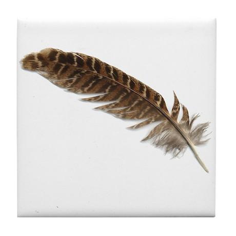 Pheasant Feather Tile Coaster 1