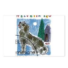 Vintage 1993 Switzerland Dog Postage Stamp Postcar