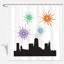 Fireworks Over Chicage Shower Curtain