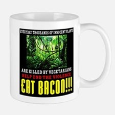 Vegetarian End Violence Eat Bacon Mug