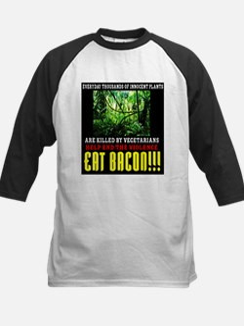 Vegetarian End Violence Eat Bacon Baseball Jersey