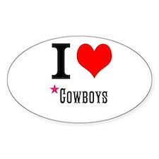 I love cowboys Decal