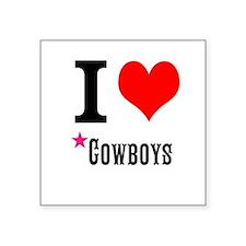 I love cowboys Sticker