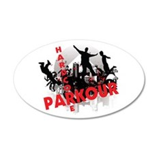 Hardcore Parkour Grunge City Wall Decal