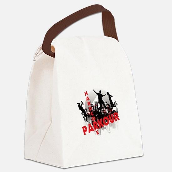 Hardcore Parkour Grunge City Canvas Lunch Bag