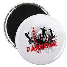 Hardcore Parkour Grunge City Magnet