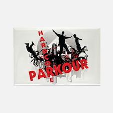 Hardcore Parkour Grunge City Rectangle Magnet