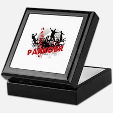 Hardcore Parkour Grunge City Keepsake Box