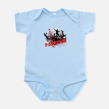 Hardcore Parkour Grunge City Infant Bodysuit