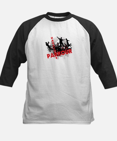 Hardcore Parkour Grunge City Kids Baseball Jersey