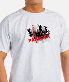 Hardcore Parkour Grunge City T-Shirt